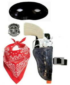 Masked Lone Lawman, Die-Cast Western Cap Gun Holster Set - NEW (see conditions)