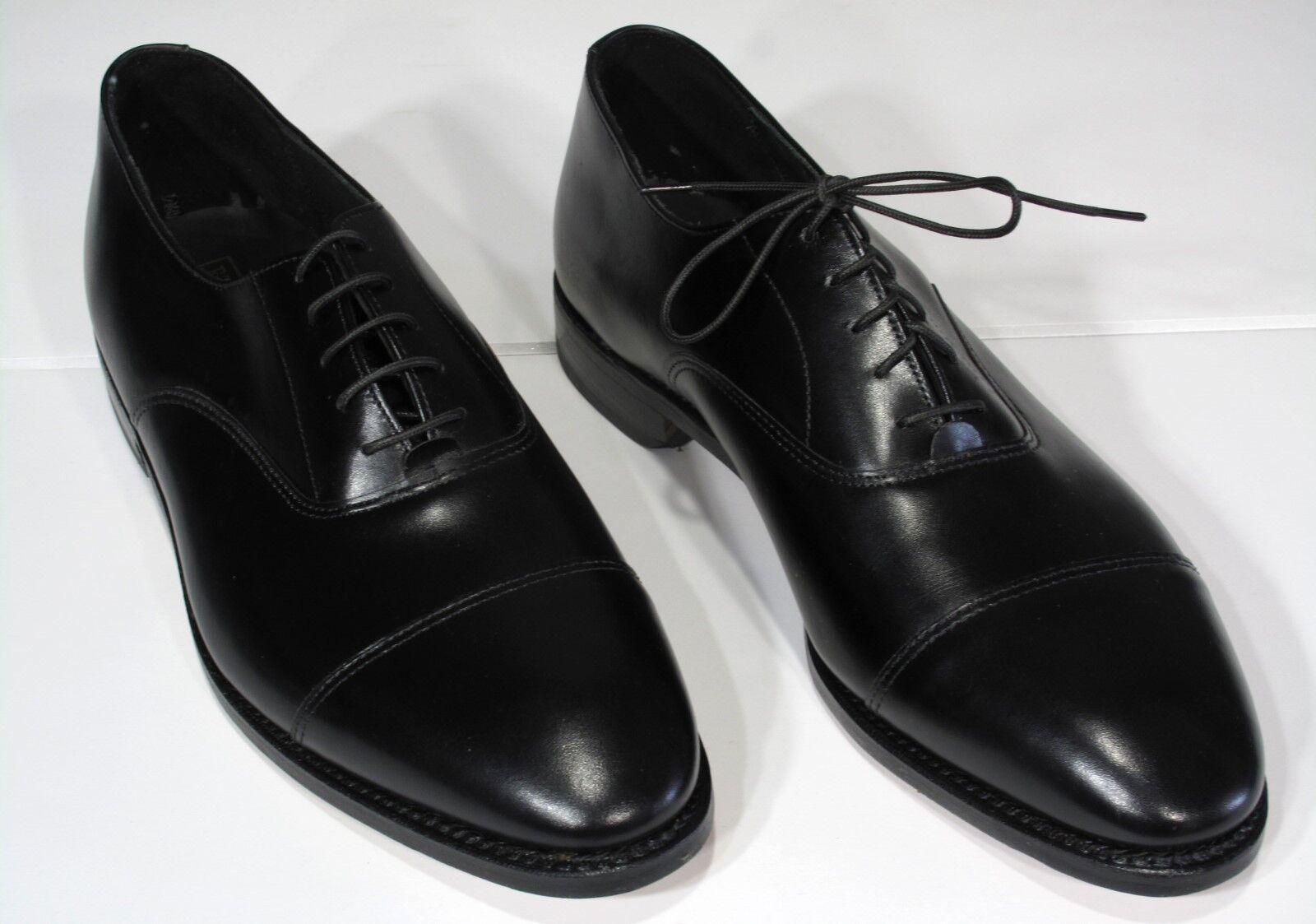 New  ET Wright Cordwainer scarpe 9.5 AA nero Captoe Arch Preserver Goodyear Welt