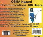 OSHA Hazard Communications, 100 Users by Daniel Farb (CD-ROM, 2005)