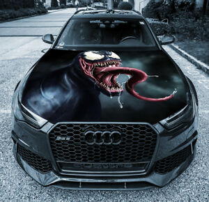 Details about Venom Tongue Car Hood Wrap Graphics Vinyl Decal Full Color  Custom Size Sticker