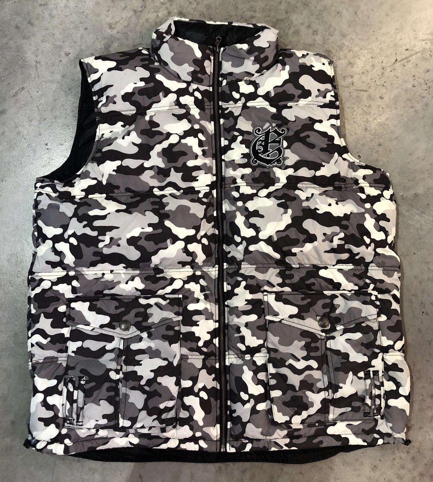 Eight732 Reversible Vest In Blk Wht Camo Sz. 3Xl 100% Authentic