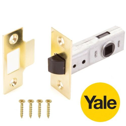 10x Yale Tubular Mortice Latches 64mm Internal Door Handle Catches GOLD BRASS
