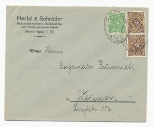 DR-Infla-MiNr-208-Paar-232-Bahnpost-Herscheid-nach-Weimar