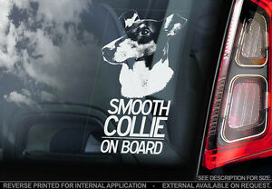 Smooth Collie  Car Window Sticker  Dog Sign V01 - <span itemprop=availableAtOrFrom>Sticker International, United Kingdom</span> - Returns Accepted, Buyer to Pay, 30 days Most purchases from business sellers are protected by the Consumer Contract Regulations 2013 which give you the right to cancel the p - Sticker International, United Kingdom