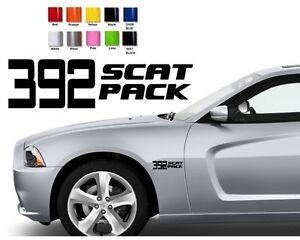 267 2 x dodge charger challenger scat pack 392 hemi shaker stickers decals ebay. Black Bedroom Furniture Sets. Home Design Ideas