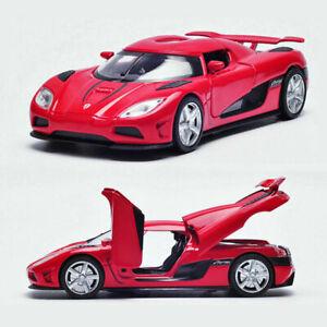 Koenigsegg-Agera-R-1-32-Metall-Die-Cast-Modellauto-Spielzeug-Model-Sammlung-Rot