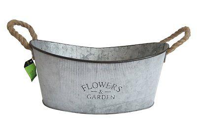 Zinkwanne ~ Flowers ~ Landhausstil Wanne zum bepflanzen Pflanzkübel Pflanztopf