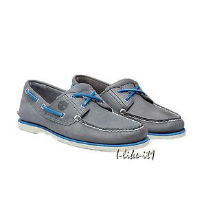261bef671d Das Bild wird geladen Timberland-Schuhe-Herren-2-Eye-Classic-Bootsschuhe -A16KC-