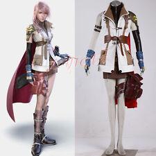 Cafiona Final Fantasy FF XIII Lightning Eclair Farron Cosplay Costume Full Set