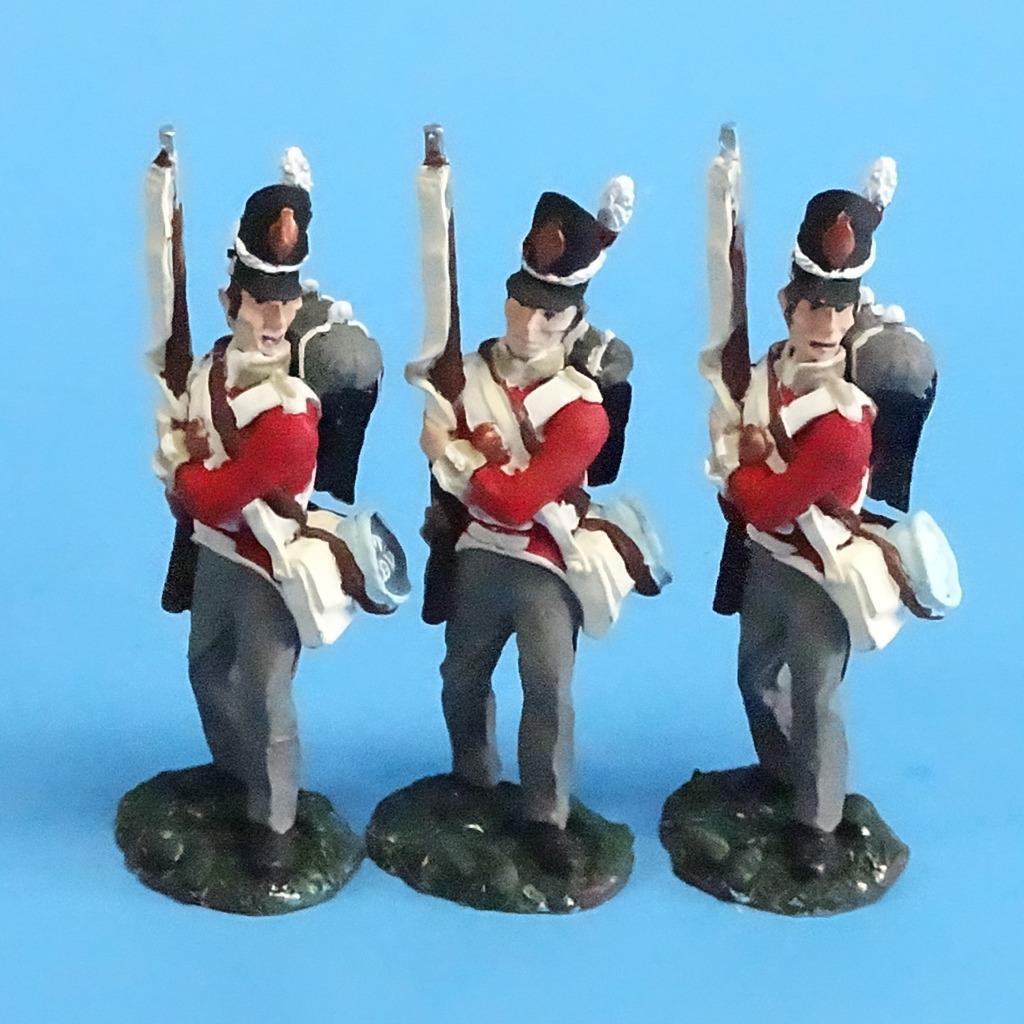 CORD-N0164 - British Infantry - Port Arms (3 Pieces) - Napoleonics