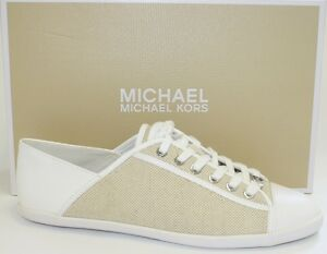 86202c352957 Women s Michael Kors KRISTY SLIDE Sneaker Lace Up Canvas  Leather ...