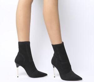 Womens Office Aflame Metal Heel Sock