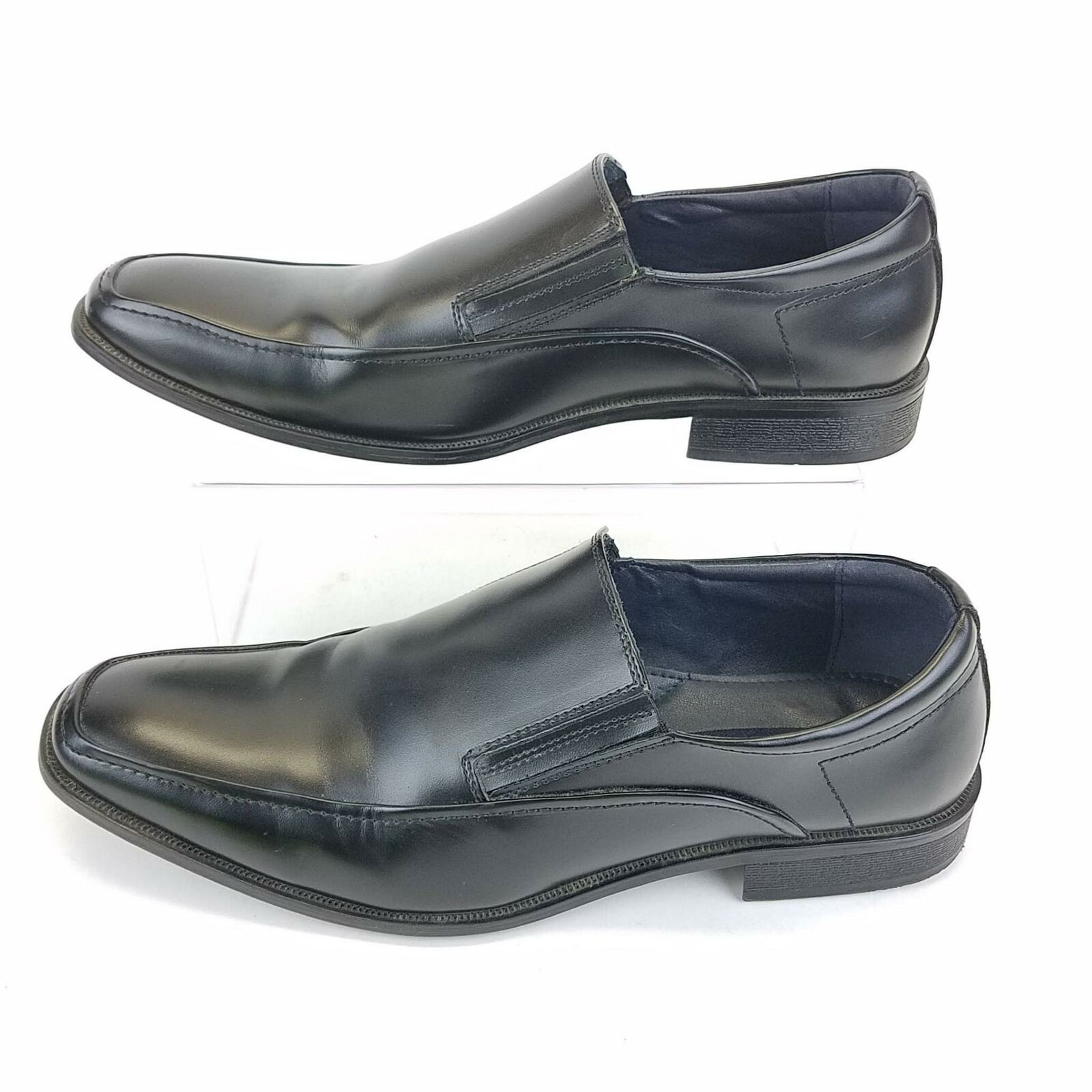 Joseph Abboud Square Toe Loafer Slip On Mens Shoe 13 Black Leather