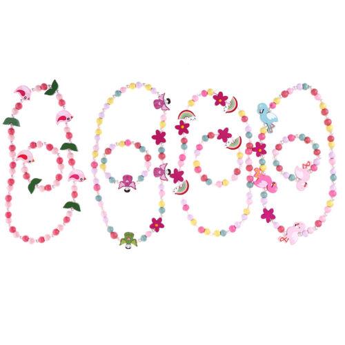 Enfants cadeau bande dessinée perles collier bijoux filles cadeau FR