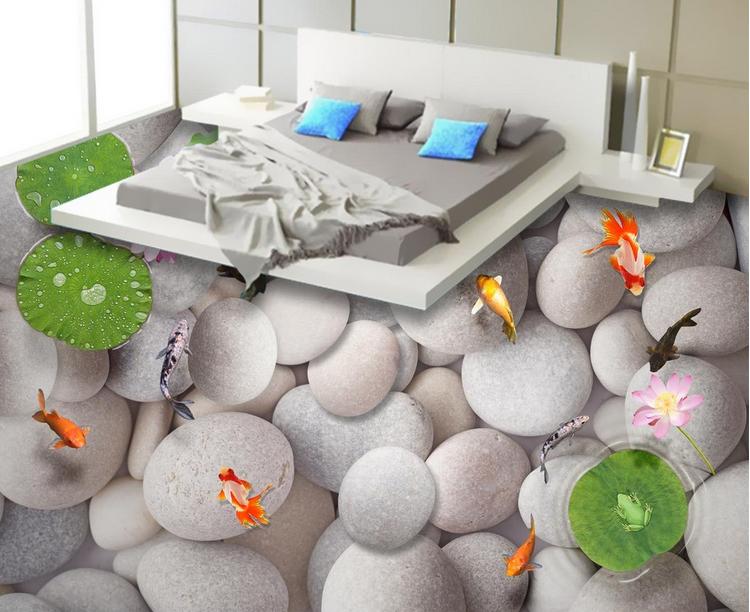 3D Fish stone 3453 Floor WallPaper Murals Wall Print Decal 5D AJ WALLPAPER