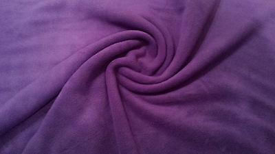 "Polar Fleece Fabric Anti-Pil 24 Plain Colours - 59"" (150cm) wide"