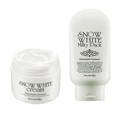 [SECRET KEY]  Snow White Cream 50g + Snow White Milky Pack 200g