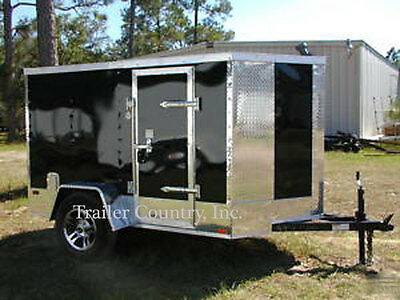 NEW 5x8 5 x 8 Motorcycle Enclosed Cargo Trailer w/ Ramp - NEW 2016