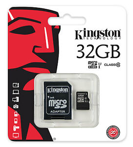 Micro-SDHC-Kingston-32GB-Classe10-Adattatore-SD-Memoria-Tablet-e-Smartphone
