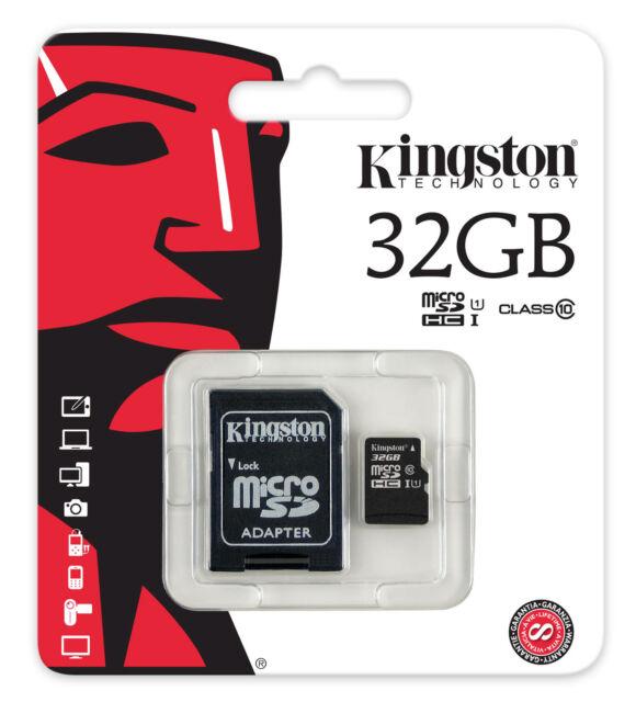 Micro SDHC Kingston 32GB Classe10 Adattatore SD Memoria Tablet e Smartphone