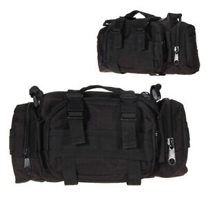 Black-Outdoor-Military-Tactical-Waist-Pack-Shoulder-Bag-Hiking-Pouch-Bag-Bags