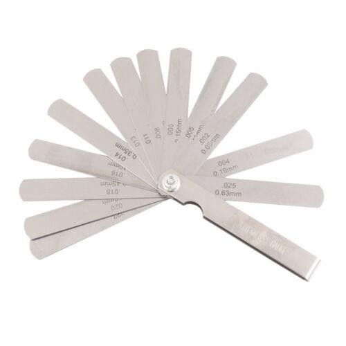 Fühlerlehre Abstandslehre Ventillehre Ventilspiel 15 Blatt 0.002-0.025inch