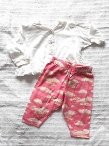 Oilily-Baby-Outfit-Gr-68-74-fuer-Maedchen-NEU-2-Teile-Set-Shirt-Bluse-und-Hose