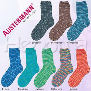 100g-Austermann-Step-4-fach-034-Wellness-034-Sockenwolle-Aloe-Vera-Schoeller-Stahl