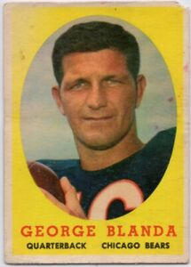 1958-Topps-129-George-Blanda-Low-Grade-Crease-Chicago-Bears-FREE-SHIPPING