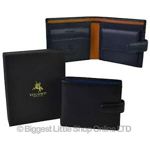 NEW-Mens-LEATHER-Tabbed-Stylish-Bifold-WALLET-by-Visconti-Parma-GIFT-BOX-Paisley