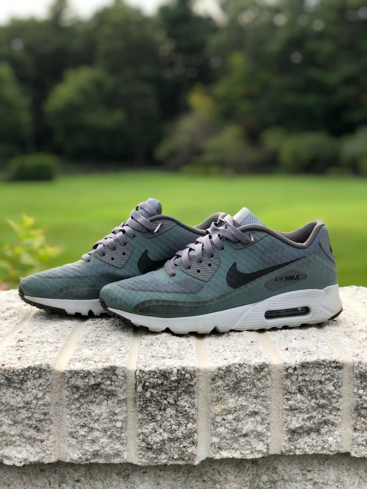 1f3765e2760c Mens Nike Nike Nike Air Max 90 Ultra Essential Size 7.5M Hasta Green Gray  Style
