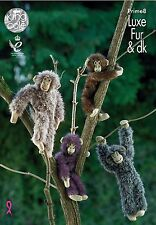 Kingcole Luxe Fur Prime8 Chimp KNITTING PATTERN - Not the finished toys