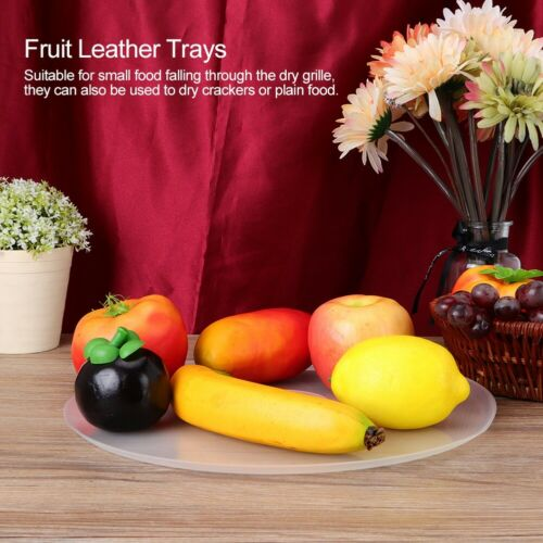 Fruit Leather Trays for Food Dehydrator Roll-up Sheets Dehydrator Fittings White