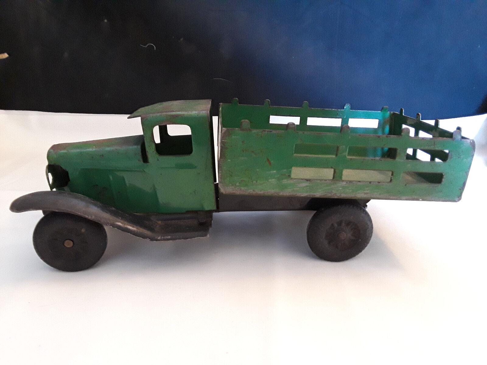 barato y de alta calidad De Colección Coleccionable Wyandotte Cuerpo de de de Estado de acero prensado camión volcado Estilo verde 10   promociones
