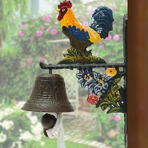Details About Vintage Style Metal Cast Iron Rooster Door Bell Wall Mounted Home Garden Decor