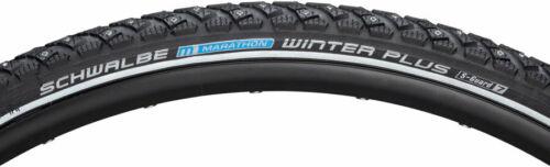 700 x 35 Clincher Wire Black//Reflective Per Schwalbe Marathon Winter Plus Tire