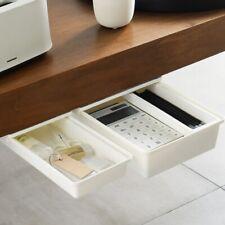Hidden Desktop Stationery Storage Box Office Desk Bottom Paste Pen Holder Box Us