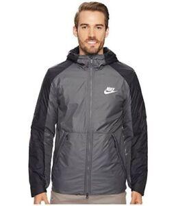 5cc61829c Nike Synthetic Fill Fleece Jacket Dark Grey Black White 861788-021 ...