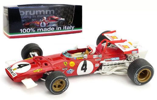 Brumm r313-ch Ferrari 312b ganador Italiano Gp 1970-Clay Regazzoni 1 43 Escala