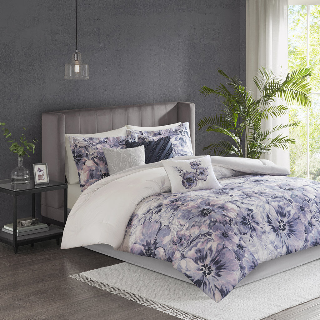 Madison Park Enza 7 Piece Cotton Printed Comforter Set