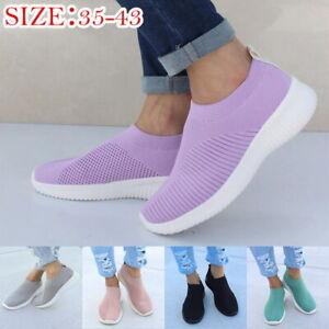 Fashion-Women-Comfy-Sock-Shoes-Ultra-light-Running-Shoes-Mesh-Woven-Sneakers