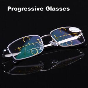 Reading-Glasses-1-0-1-5-to-4-0-Progressive-Varifocal-Lens-Metal-Frames-Eyeglass