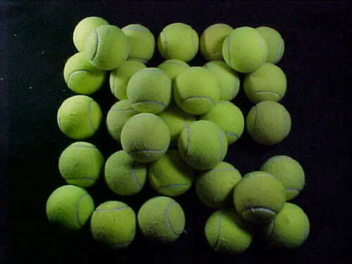 48 Used or pre-cut TENNIS BALLS =Dog toys Remove scuffs Chair legs Fluff laundry