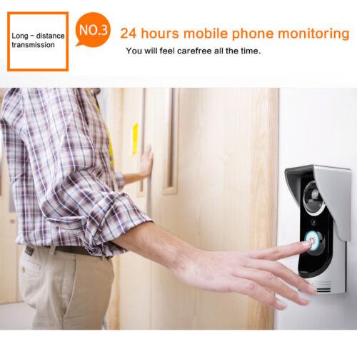 LOT Wireless WiFi Remote Video HD Camera Smart Door Phone Doorbell Home Security
