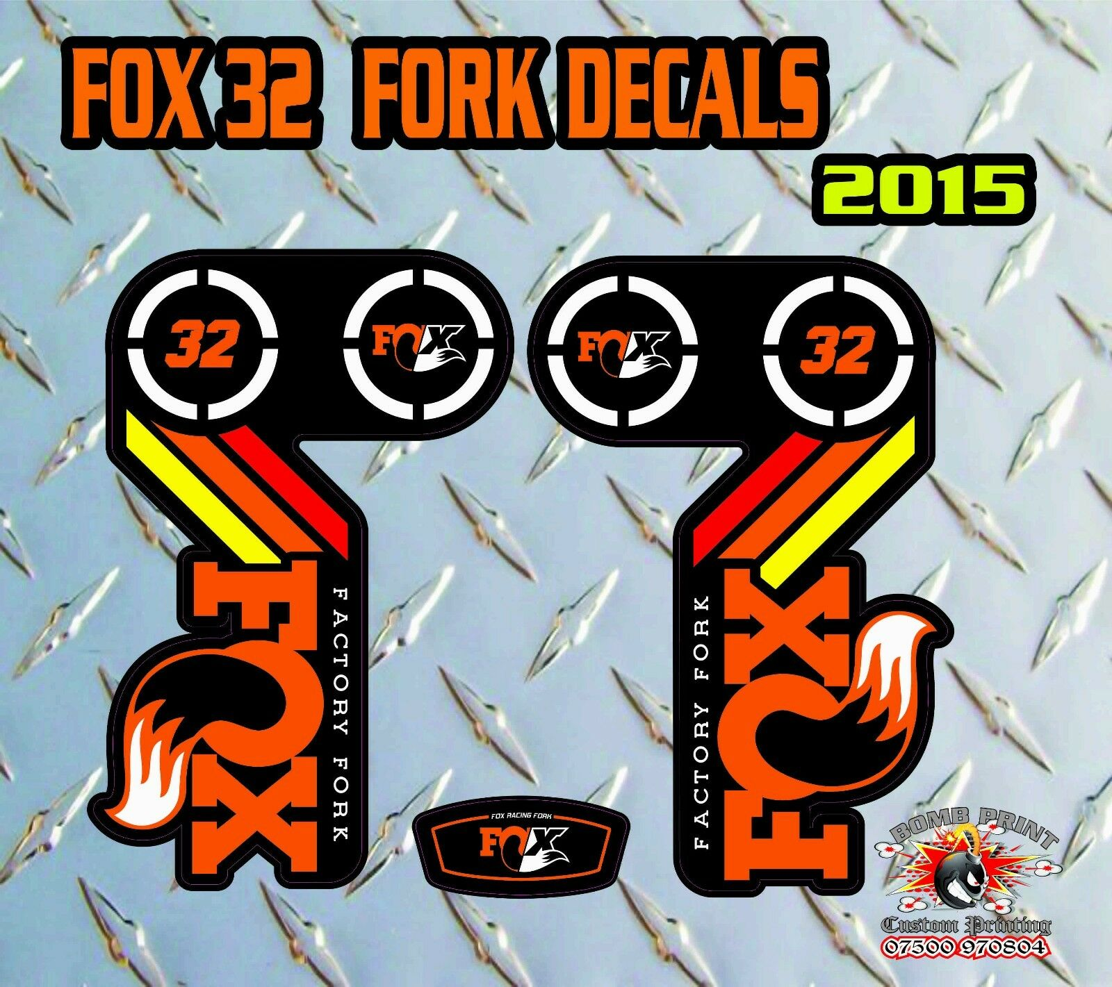 Fox 32 2015 2015 2015 Fourche Autocollant Graphique Vélo Vtt en Bas Hill Vtt d0b9b6