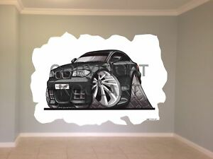 Huge-Koolart-Cartoon-Bmw-1-Coupe-Wall-Sticker-Poster-Mural-3150