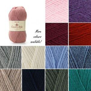 Sirdar-Country-Style-4-Ply-Knitting-Yarn-Knit-Crochet-50g-Ball-Wool