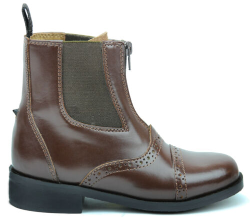 Hispar Ladies English Horse Riding Lightweight Leather Glory Zip Paddock Boots