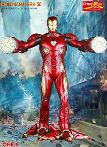 1-6TH-IRON-MAN-MK-50-AVENGERS-BY-CRAZY-TOYS-COLLECTIBLE-FIGURE-STATUE-12INCH