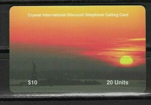 Details about Crystal International Discount Telephone Calling Card 20  Units Used